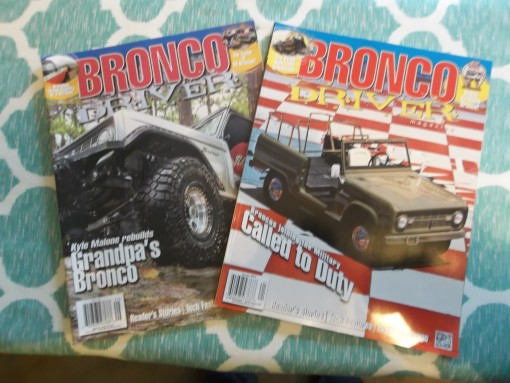 Bronco Driver Back Issues
