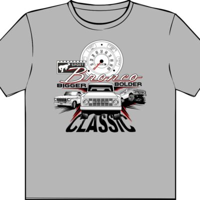 bigger bolder classic bronco t shirt
