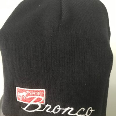Bronco Logo Embroidered Beanie