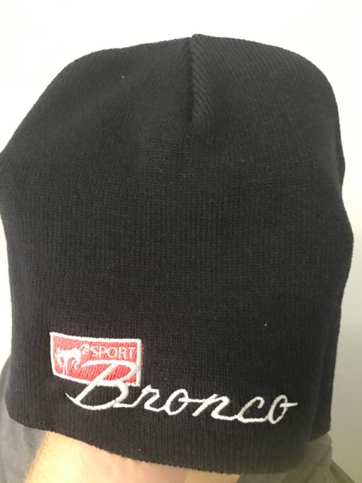 Bronco Logo Embroidered Beanie